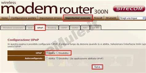 aprire porte router sitecom 300n emule it guida emule