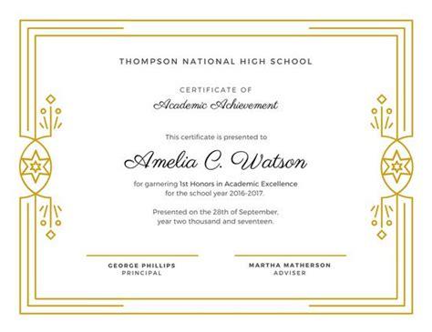 printable outstanding student awards school certificates templates