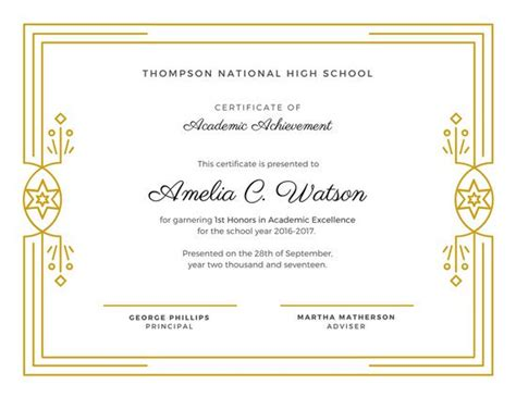 Dark Blue and Gold Award Certificate   Templates by Canva