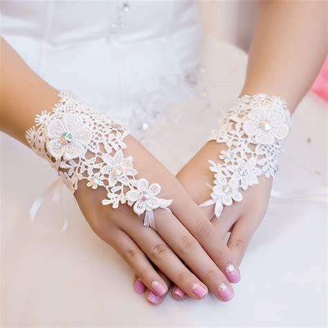 free shipping fingerless rhinestone wedding bridal