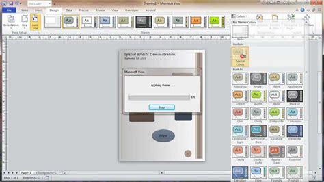 microsoft visio themes visio 2010 themes tutorial