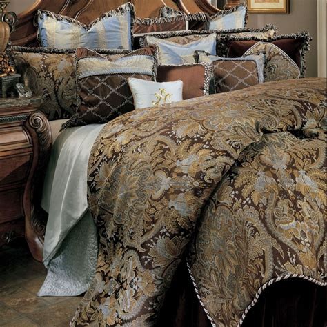 paisley bedding set 12 pc queen paisley on chocolate bedding set comforter set