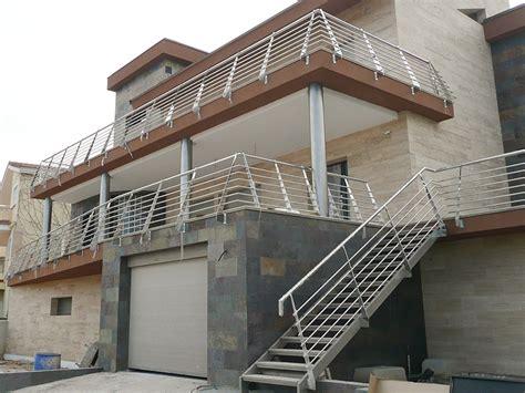barandilla inoxidable barandilla de acero inoxidable de exterior en vivienda