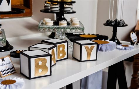 Black And Gold Baby Shower Decorations white gold and black prince baby shower le lait