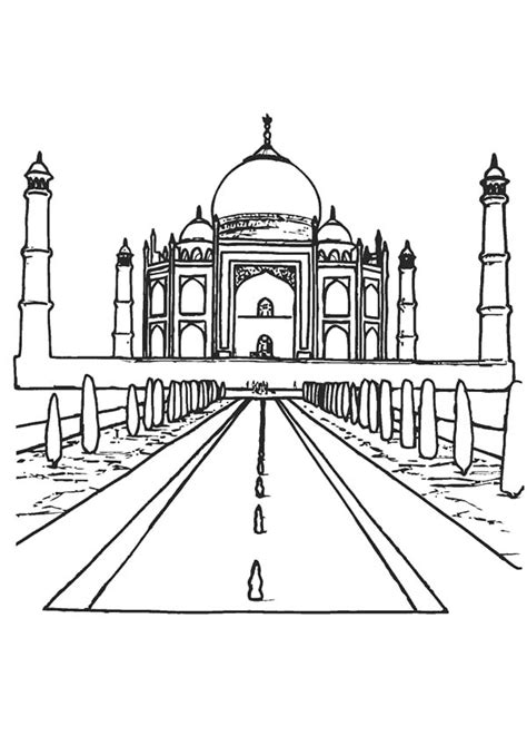 Egypt Worldwonders Lighthouse Of Alexandria Coloring Pages Taj Mahal Coloring Page