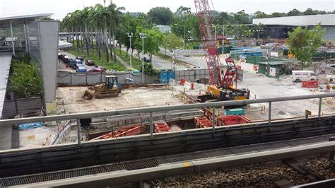singapore expo foyer 1 downtown line construction april 2014