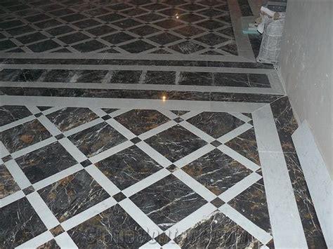 Black Gold Marble Floor Pattern from Ukraine