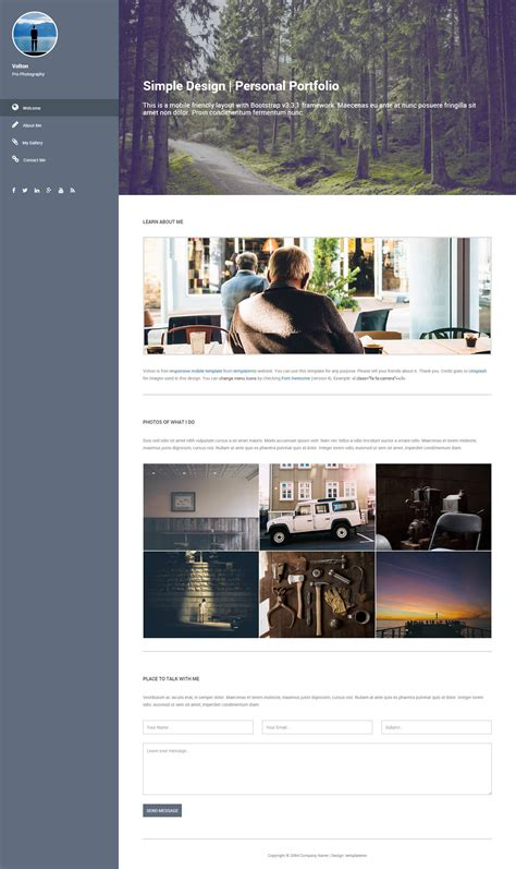 Website Templates Free Download Gallery Professional Report Template Word Left Side Menu Website Templates Free