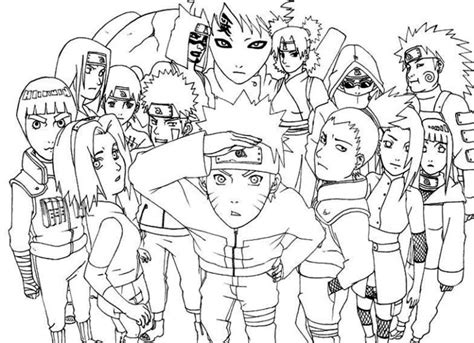 coloring pages of naruto shippuden characters naruto kurama mode coloring pages coloring pages