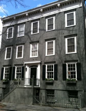 wooden row house in heights new york