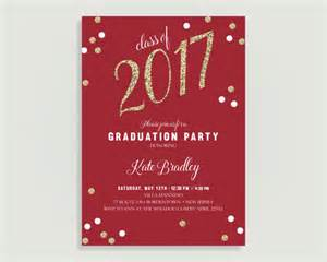 graduation invitation class of glitter confetti personalized printable file or print