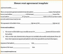 rental home agreement template 4 home rental lease agreement printable receipt
