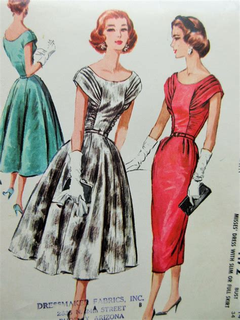 dress pattern ruching vintage mccall s 4172 sewing pattern 1950s dress pattern