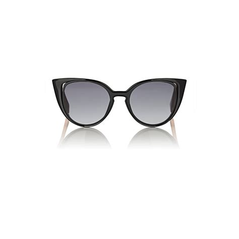 Cutout Tip Sunglasses fendi s cutout lens cat eye sunglasses lyst