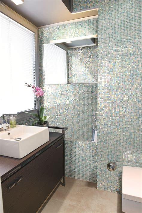 floor to ceiling purple mosaic bathroom tiles bathroom love a shimmery mosaic tile floor to ceiling in a bathroom