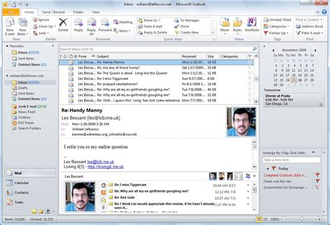 Search Emails In Outlook 2010 Image Gallery Outlook 2010 Look