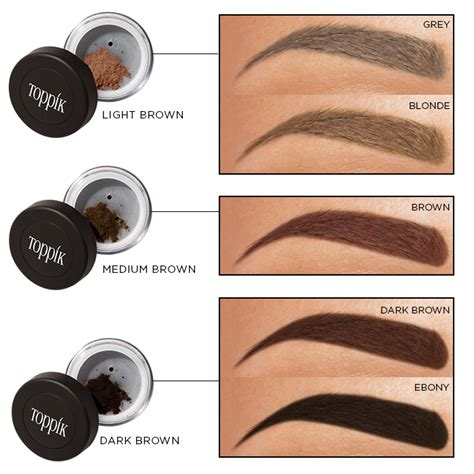 brow gel colors hair toppiks learn how to shape eyebrows with the toppik