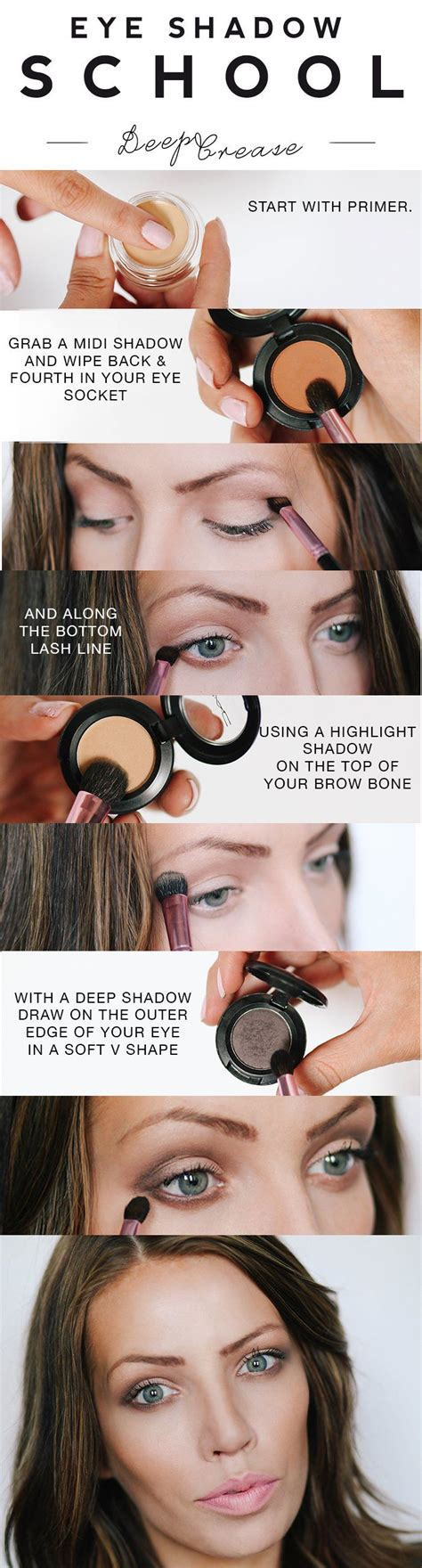 tutorial lipstik simpel eye shadow school deep crease eyeshadow make up pinterest