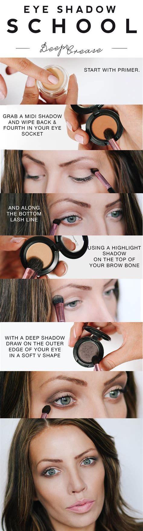 eyeshadow tutorial easy eye shadow school deep crease eyeshadow make up pinterest