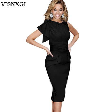 Dress Tunik Elegan Aneka Model 1 2017 knee length vestidos colour black dress tunic dress plus size