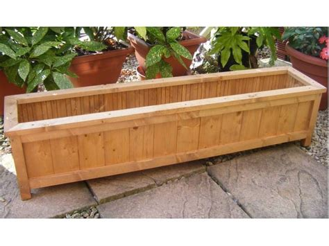 Wooden Garden Planters Ideas by Handmade Wooden Garden Planter Windowbox Trough Garden