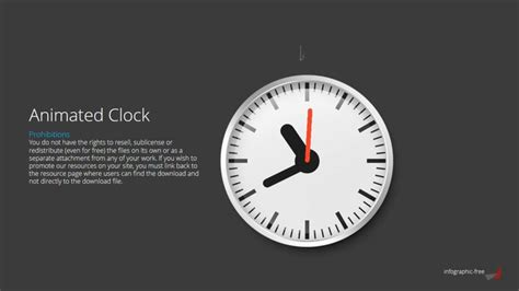 powerpoint templates free download gif free powerpoint template with animated clock