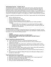Informational Interview Report Sample Mock Interview Paper Caleb Nyquist Bus 102 March 15