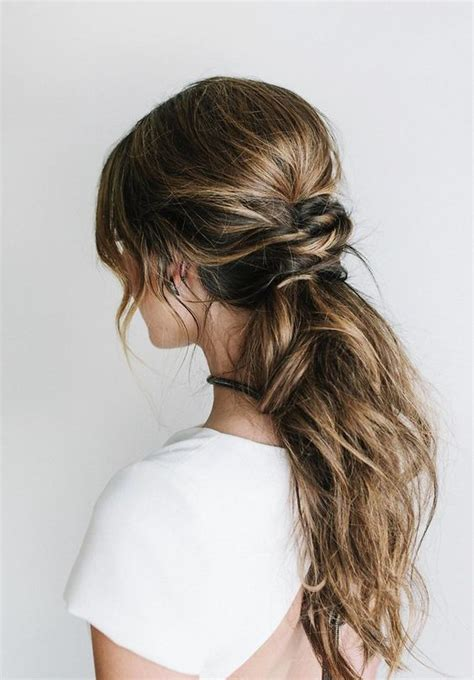 Wedding Hairstyles Low Side Ponytail by 41 Trendy And Chic Wedding Hairstyles Weddingomania