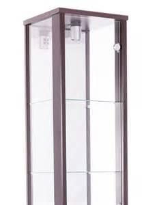 Display Cabinet Glass Door Single Door Glass Display Cabinet Brown