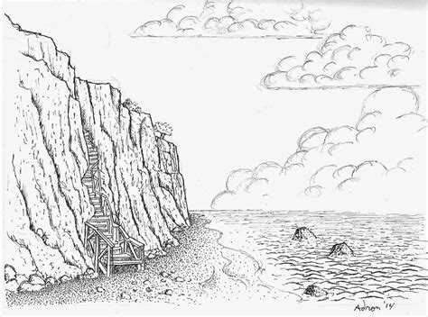 how to draw a boat on shore the gallery for gt beach shore pencil drawing