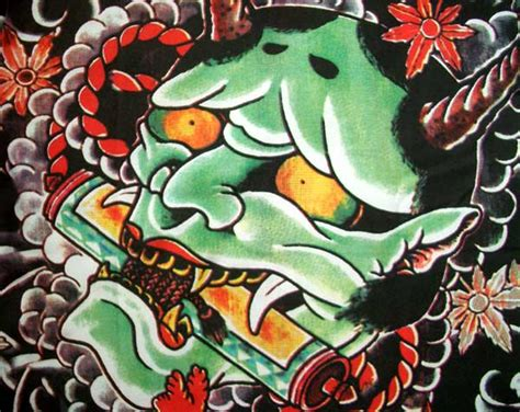 japanese devil mask tattoo designs tatatatta amazing japanese designs especially