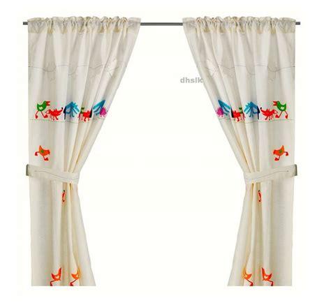 ikea nursery curtains ikea barnslig ringdans forest animal curtains boy children nursery linen blend