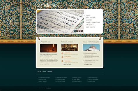 template koran photoshop islam website template 28338