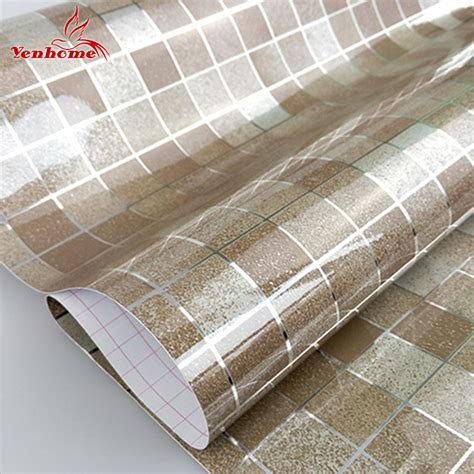 self adhesive wallpaper aliexpress com buy 10m pvc mosaic wall paper modern self