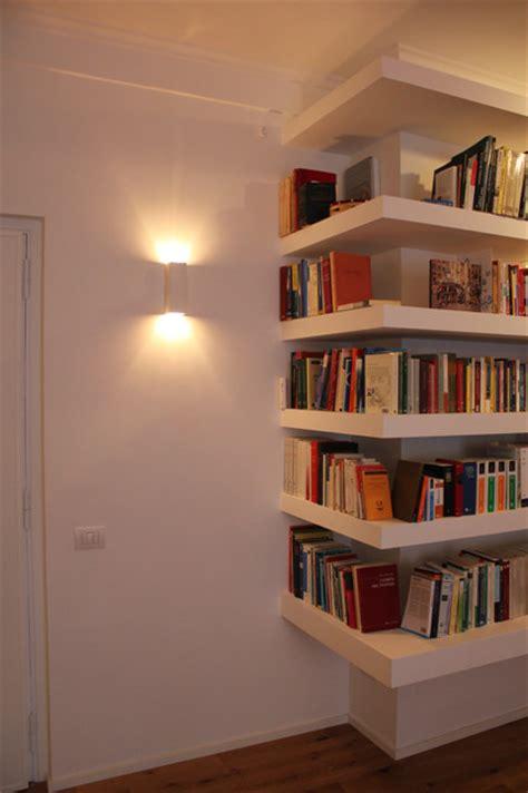 librerie in gesso libreria lineare in cartongesso