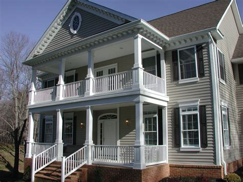 traditional house plans with porches finished two story porch the murry residence pinterest