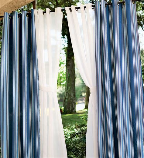 outdoor drapery made of metal outdoor curtains