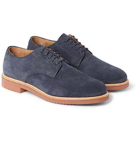 j crew mens sneakers j crew kenton suede derby shoes in blue for lyst
