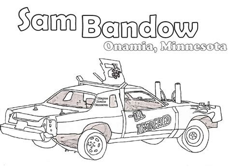 derby cars coloring pages demolition derby car clipart clipartsgram