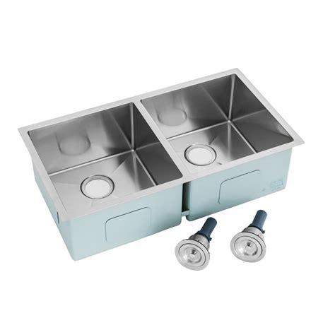 28 Kitchen Sink Kokols All In One Undermount Stainless Steel 28 In Basin Kitchen Sink Hs2818 The Home