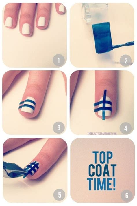 design your nails with tape nail art using scotch tape nail art step by step