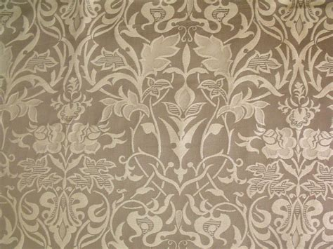 upholstery fabric crafts art nouveau arts crafts floral beige on taupe or green