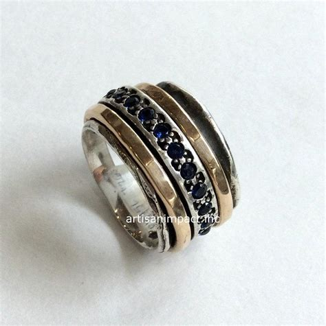mothers infinity ring mothers ring gold silver band blue sapphire ring