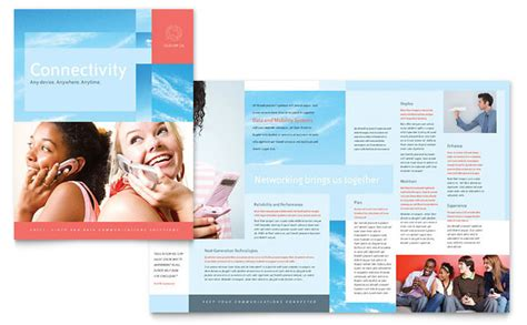 company brochure template communications company brochure template design