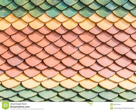 Roof Tile Colors Three Color Roof Tiles Of Buddhist Temple Stock Image Image 36373449