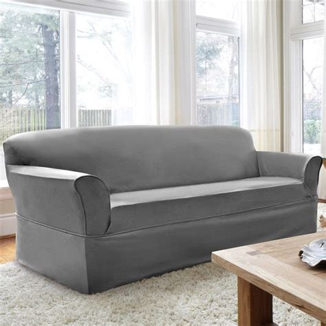 grey twill sofa slipcover 5 steps to choosing a durable sofa slipcover overstock com