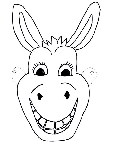 printable mask of horse template free kids mask donkey craft children sunday