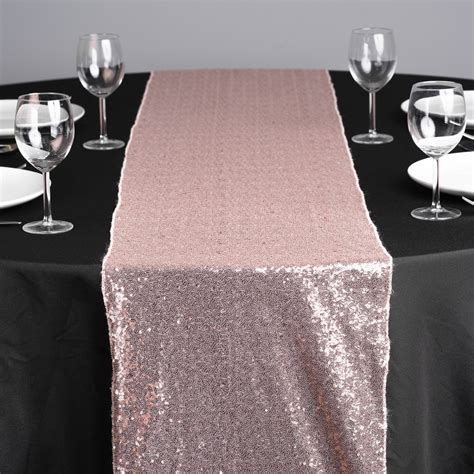 blush sequin table runner receptions events wright rental