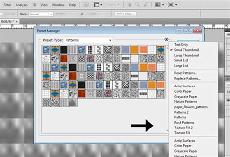 photoshop pattern presets photoshop tutorial how to create a texture and save it as