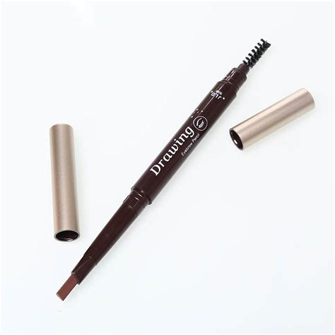 Eyebrow Eyeliner 2 rotatable waterproof eyeliner eyebrow pencil brush makeup